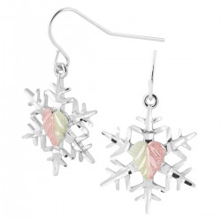 Landstrom's Sterling Silver Diamond Cut Snowflake Earrings