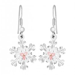 Landstrom's White Powder Coated Snowflake Earrings