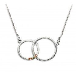 Landstrom's Black Hills Gold on Sterling Silver Double Circle Necklace