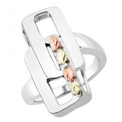 Landstrom's® Black Hills Gold on Sterling Silver Ladies Link Ring