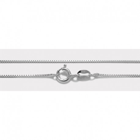 Sterling Silver Box Chain 18-Inch Long