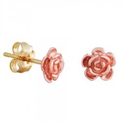 Landstrom's® Mini 10K Black Hills Gold Rose Earrings