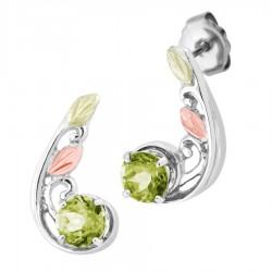 Landstrom's® Black Hills Gold on Sterling Silver Earrings w Soude Peridot