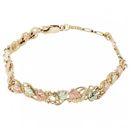 10K Black Hills Gold Grapes And Leaves Bracelet