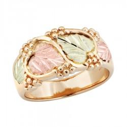 Landstrom's(®) Tri-color Black Hills Gold Ladies Wedding Ring