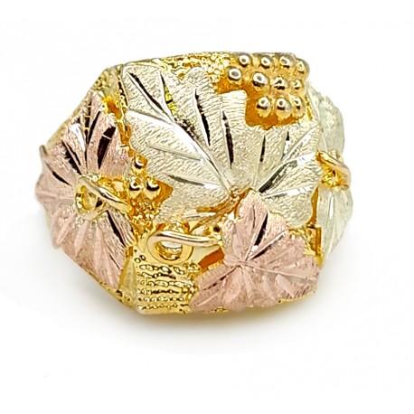 10K Black Hills Gold Spectacular Mens Ring By Landstroms