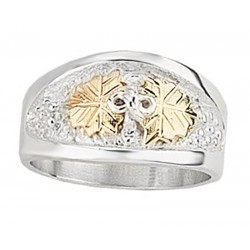 Mt. Rushmore Black Hills Gold on Sterling Silver Men's Wedding Ring