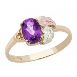Landstrom's® 10K Black Hills Gold Ladies Ring with Amethyst