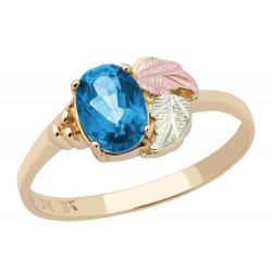 Landstrom's® 10K Black Hills Gold Ladies Ring with Blue Topaz