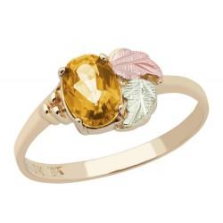 Landstrom's® 10K Black Hills Gold Ladies Ring with Citrine