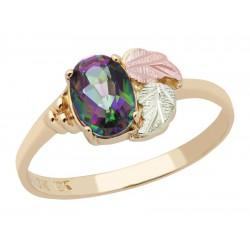 Landstrom's® 10K Black Hills Gold Ladies Ring with Mystic Fire Topaz