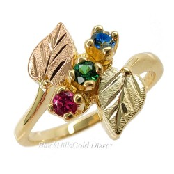 Black Hills Gold Mother's Ring with 2 to 6 Birthstones - Family Jewelry by Landstrom's®