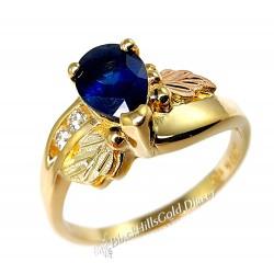 Landstrom's® 10K Black Hills Gold Ring with Sapphire & Diamond