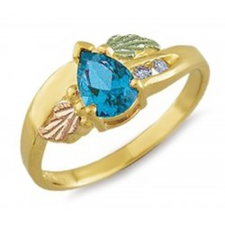 Landstrom's® 10K Black Hills Gold Ring with Blue Topaz & Diamond