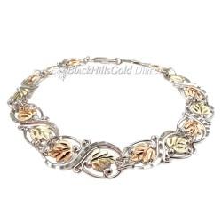 10K Black Hills Gold Leaves Bracelet