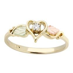 BLACK HILLS GOLD LADIES .05 TW DIAMOND HEART RING