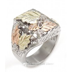 Mt. Rushmore Wide Sterling Silver Mens Ring