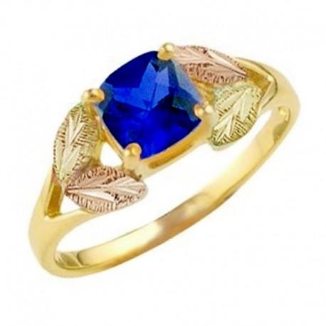 Landstrom's® 10K Black Hills Gold Ladies Ring with Blue Sapphire