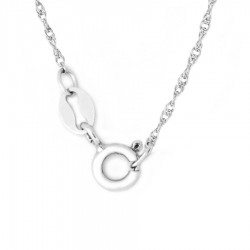 Sterling Silver Rope Chain 20-Inch Long
