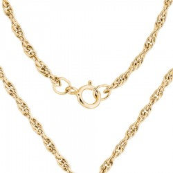 Gold Filled Heavy Rope Chain 24-Inch Long