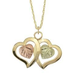10K BLACK HILLS GOLD LADIES HEART PENDANT NECKLACE