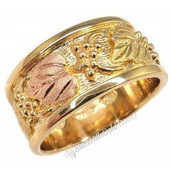 14K BLACK HILLS GOLD MENS WEDDING RING