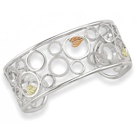 Landstrom's® Black Hills Gold on Sterling Silver Ladies Bracelet with Circles