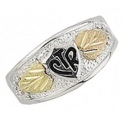 Black Hills Gold on Sterling Silver Men's CTR Ring