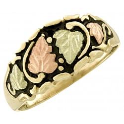 10K Black Hills Gold Antiqued Men's Band Ring
