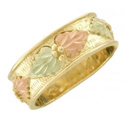 10K Black Hills Gold Ladies Wedding Band Ring