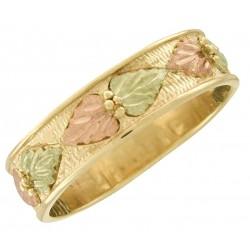 10K Black Hills Gold Men's Wedding Band Ring