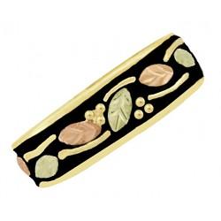 10K Black Hills Gold Ladies Band Ring Antiqued