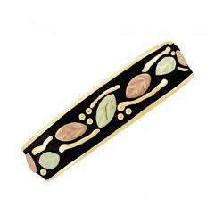 10K Black Hills Gold Men's Band Ring Antiqued