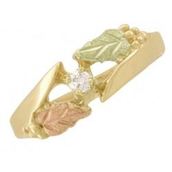 10K Black Hills Gold Ladies Diamond Ring