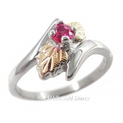 Black Hills Gold on Sterling Silver Ruby Ring