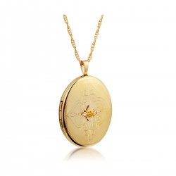 Mt. Rushmore Black Hills Gold-Filled Oval Locket w Chain