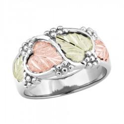 Landstrom's(®) Ladies Tri-color Black Hills Gold Wedding Ring