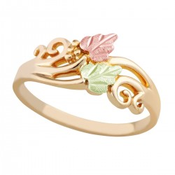 Ladies Black Hills Gold 10K Ring with Leaves