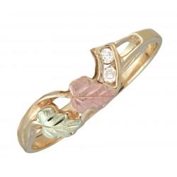 10K Black Hills Gold Diamond Engagement Wedding Ring Guard for G C1806D5-25