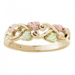 BLACK HILLS GOLD LEAVES and VINE RING for LADIES