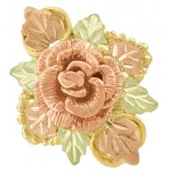 Beautiful 10K Black Hills Gold Ladies Rose Ring