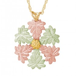 Landstrom's® 10K Black Hills Gold Snowflake Pendant