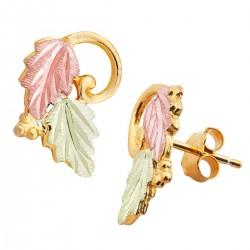 Landstrom's® 10K Black Hills Gold Post Leaves Earrings