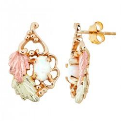 Landstrom's® 10K Black Hills Gold Opal Earrings