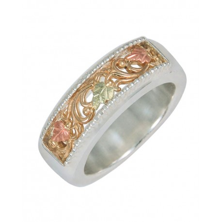 BLACK HILLS GOLD .925 STERLING SILVER RING FOR LADIES