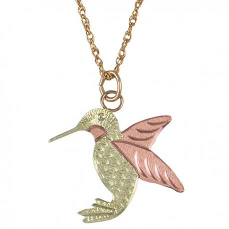 10k black hills gold hummingbird pendant necklace blackhillsgold 10k black hills gold hummingbird pendant necklace aloadofball Gallery