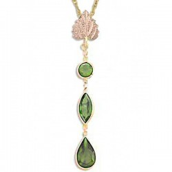 IN STOCK*** 10K BLACK HILLS GOLD PERIDOT PENDANT NECKLACE*** IN STOCK