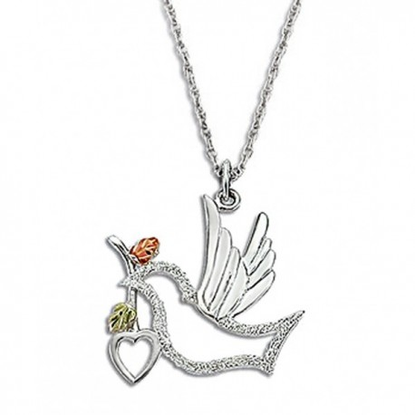 IN STOCK***BLACK HILLS GOLD STERLING SILVER DOVE PENDANT NECKLACE*** IN STOCK