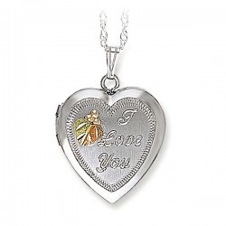 Black Hills Gold Sterling Silver Heart Locket Necklace