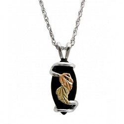 IN STOCK***BLACK HILLS GOLD STERLING SILVER ONYX NECKLACE*** IN STOCK